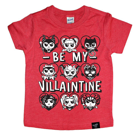 VILLAINTINE (GIRL CHARACTERS) RED TEE