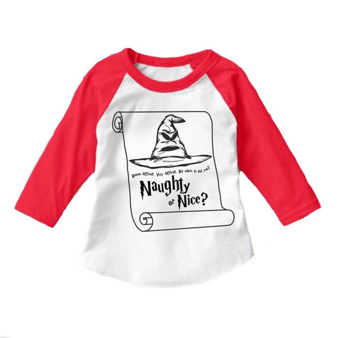 NAUGHTY OR NICE RAGLAN