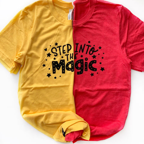 INTO THE MAGIC RED TEE