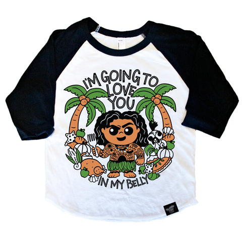 IN MY BELLY RAGLAN