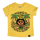 IN MY BELLY YELLOW TEE