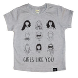 GIRLS LIKE YOU GRAY TEE