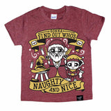 DUMBLE CLAUS MAROON TEE