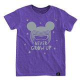 NEVER GROW UP PURPLE TEE