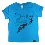 NEVERLAND AND BEYOND BLUE TEE