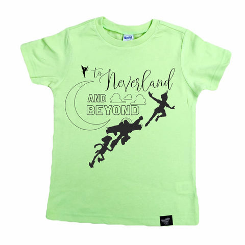 LIMITED EDITION NEVERLAND AND BEYOND LIME TEE