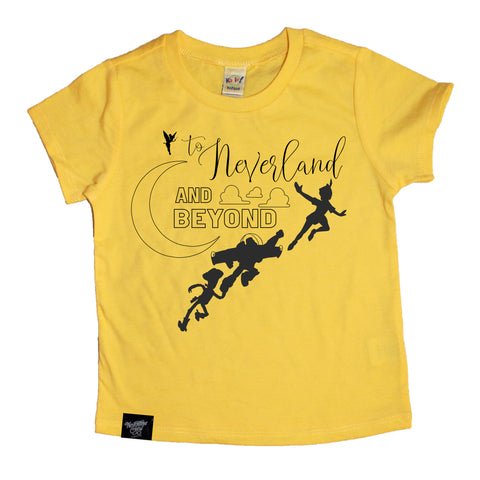 LIMITED EDITION NEVERLAND AND BEYOND YELLOW TEE