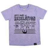 REBELUTION LAVENDER TEE