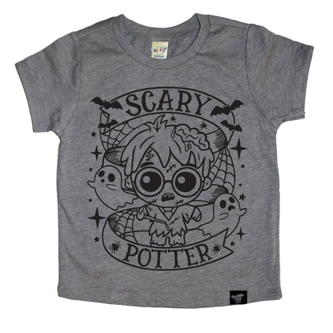 SCARY HARRY GRAY TEE