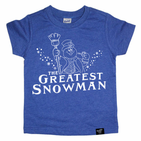 THE GREATEST SNOWMAN BLUE TEE