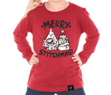 STITCHMAS LONG SLEEVES RED