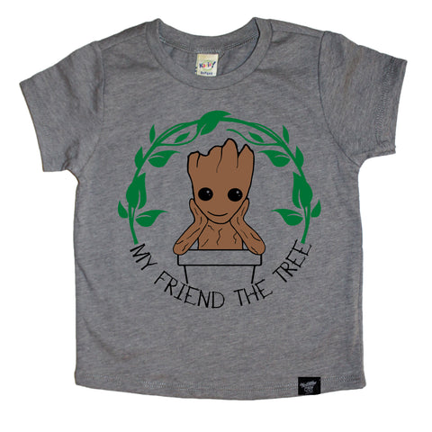 THE TREE GRAY TEE