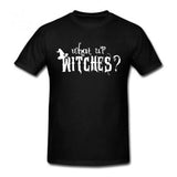 WHAT UP WITCHES BLACK TEE