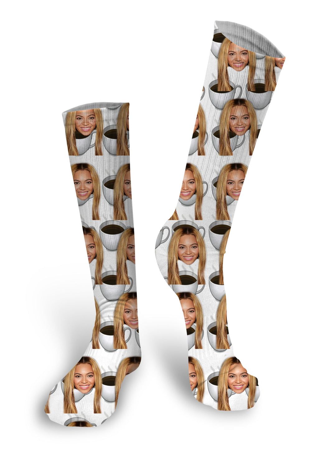 Coffee Cup Socks, Photo Socks, Custom Face Socks