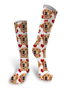 Custom Face Socks, Dog Socks, Valentines Day socks, Bae Socks