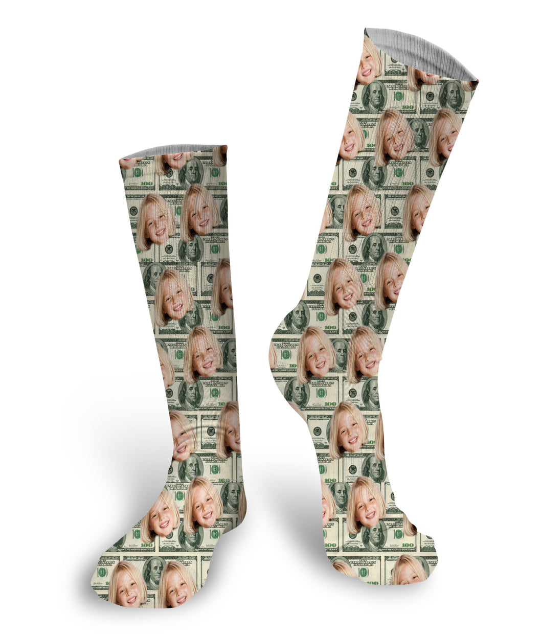 Money Socks Custom Face Socks, Custom Face Socks, Photo Socks