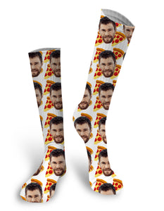 Pizza Face Socks, Custom Face socks, Personalized Socks