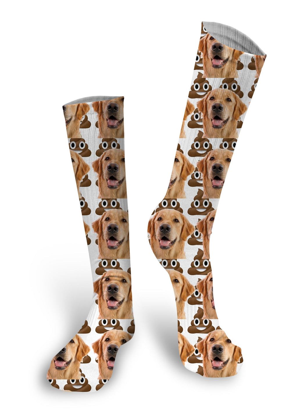 Poop Emoji Custom Face Socks, Face Socks, Custom Photo Socks