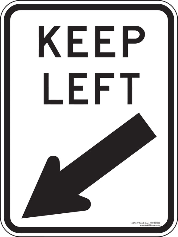 Keep Left Outdoor-Signs-RackID Shop