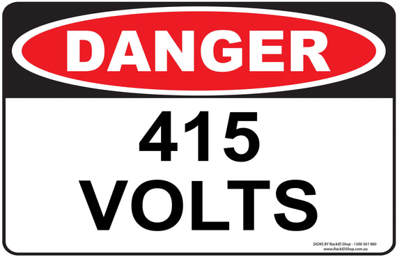 415 VOLTS - Signs - RackID Shop