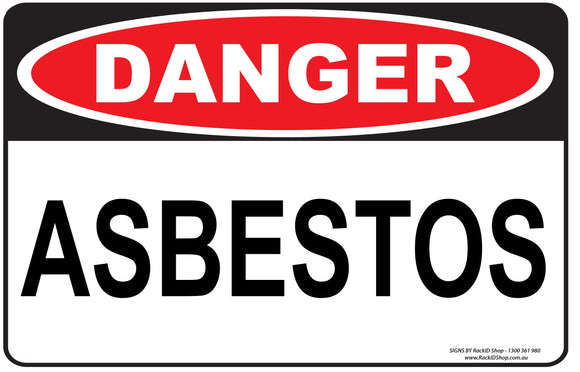 ASBESTOS OUTDOORS - Signs - RackID Shop