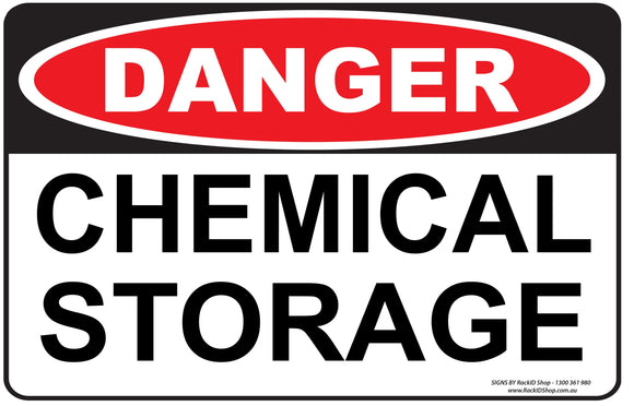 CHEMICAL STORAGE - Signs - RackID Shop