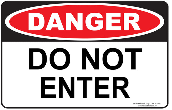DO NOT ENTER-Signs-RackID Shop