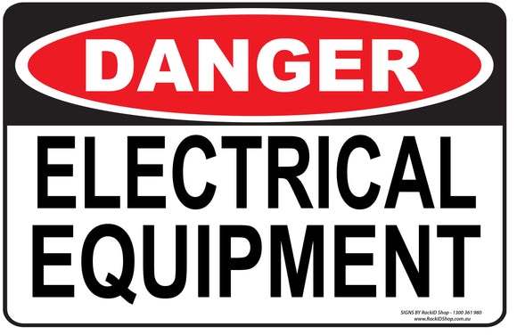 ELECTRICAL EQUIPMENT OUTDOORS-Signs-RackID Shop