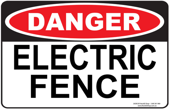 ELECTRIC FENCE OUTDOORS-Signs-RackID Shop