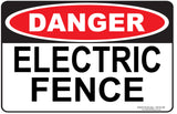 ELECTRIC FENCE  OUTDOORS - Signs - RackID Shop