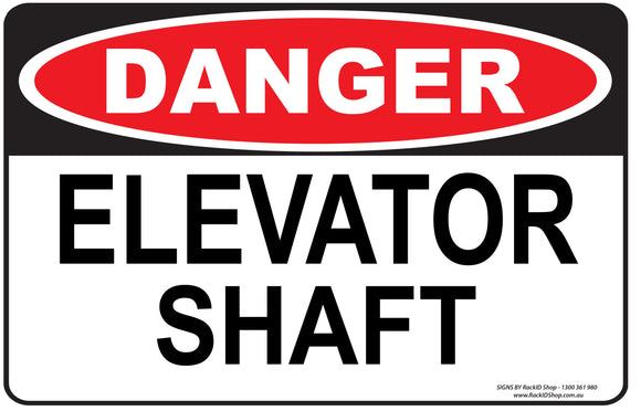 ELEVATOR SHAFT OUTDOORS-Signs-RackID Shop