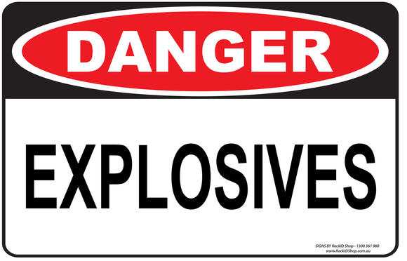 EXPLOSIVES OUTDOORS - Signs - RackID Shop