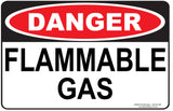 FLAMMABLE GAS-Signs-RackID Shop