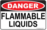 FLAMMBLE LIQUIDS OUTDOORS - Signs - RackID Shop