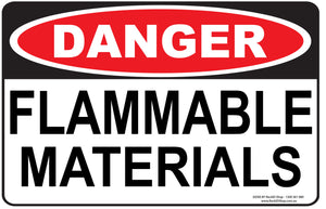 FLAMMABLE MATERIALS- DANGER - Signs - RackID Shop