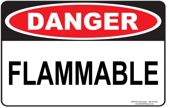 FLAMMABLE-Signs-RackID Shop