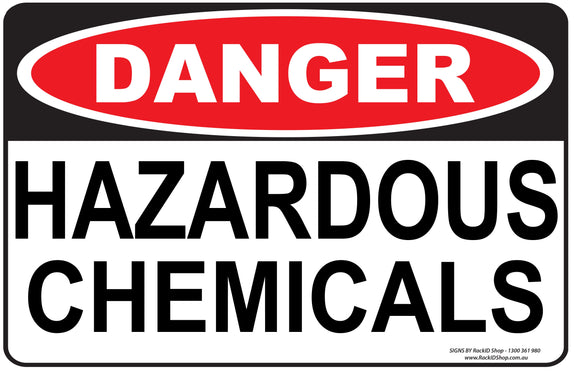 HAZARDOUS CHEMICALS OUTDOORS-Signs-RackID Shop