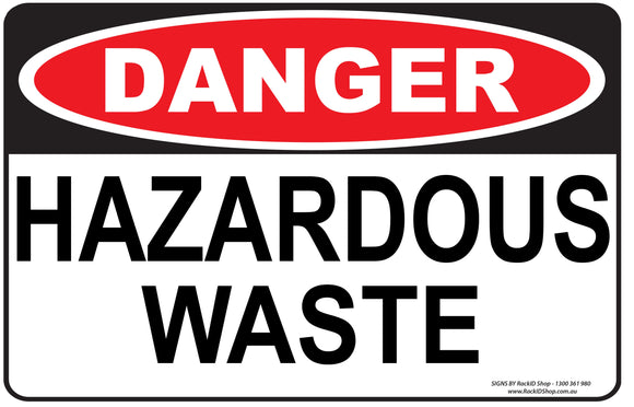 HAZARDOUS WASTE OUTDOORS-Signs-RackID Shop