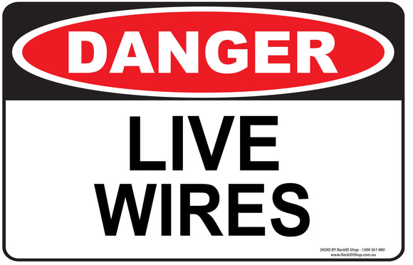 LIVE WIRES OUTDOORS-Signs-RackID Shop