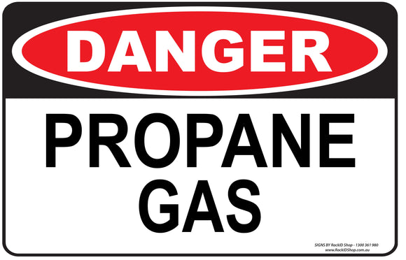 PROPANE GAS OUTDOORS-Signs-RackID Shop