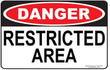 RESTRICED AREA-Signs-RackID Shop