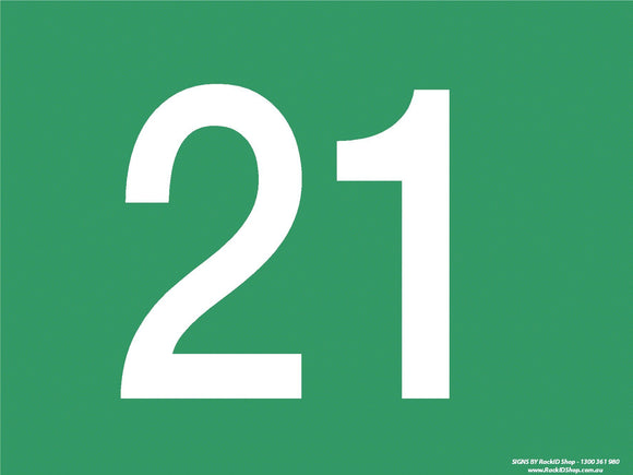 Green 21-30 Dock Sign - Signs - RackID Shop