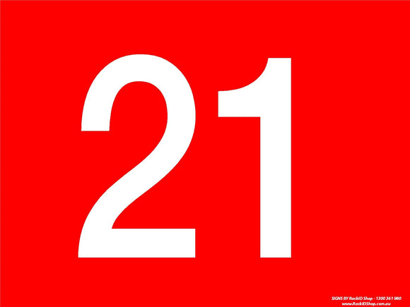 Red 21-30 Dock Sign-Signs-RackID Shop