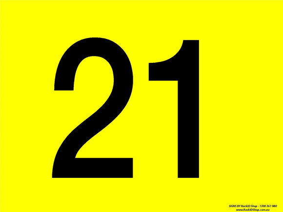 Yellow 21-30 Dock Sign-Signs-RackID Shop