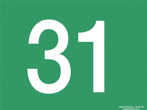 Green 31-40 Dock Sign-Signs-RackID Shop