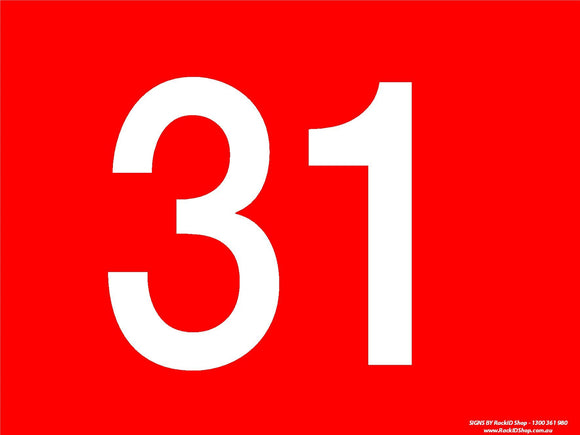 Red 31-40 Dock Sign-Signs-RackID Shop