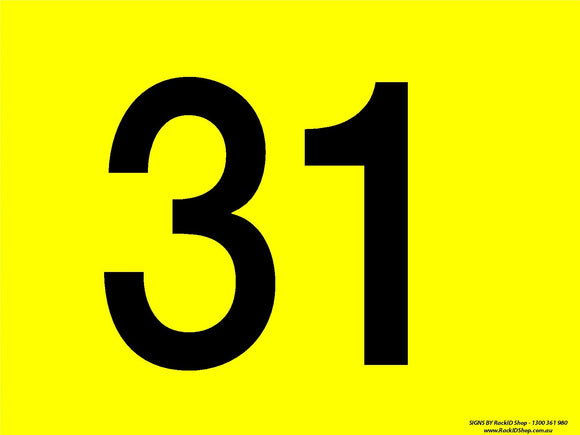 Yellow 31-40 Dock Sign-Signs-RackID Shop