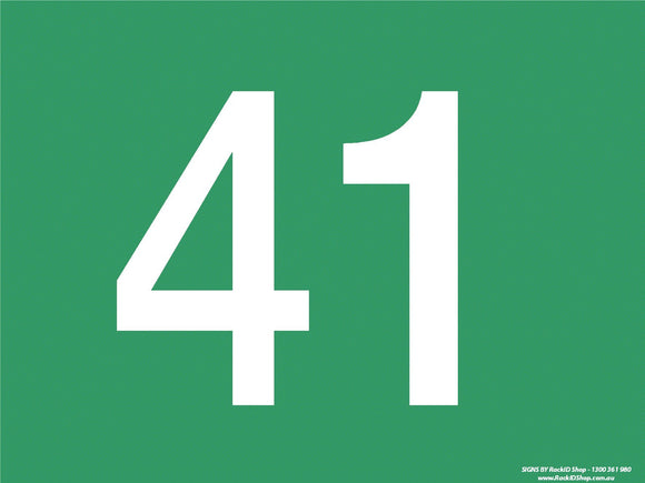Green 41-50 Dock Sign - Signs - RackID Shop