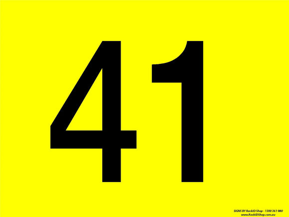 Yellow 41-50 Dock Sign - Signs - RackID Shop
