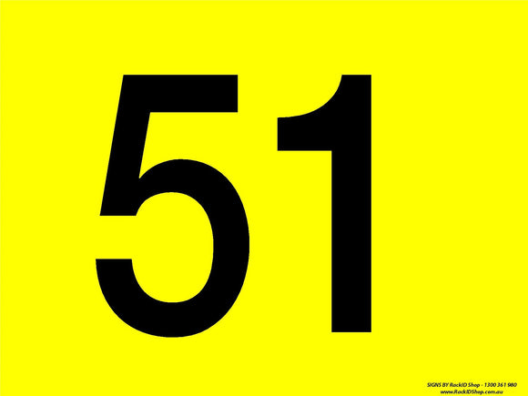 Yellow 51-60 Dock Sign - Signs - RackID Shop